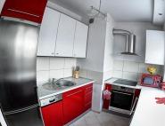 Meble kuchenne śląsk - kuchnia biało czerwona połysk