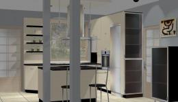 Kuchnie na wymiar Będzin - kuchnia kremowa połysk