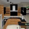 Kuchnia na wymiar Będzin - kuchnia oliwka czarny lakier