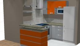 Meble kuchenne śląsk - kuchnia pomarańczowo szara
